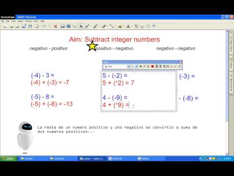 Subtracting Integer Numbers Advanced Method