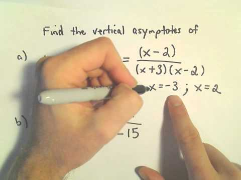Vertical Asymptotes of Rational Functions: Quick Way to Find Them, Another Example 1