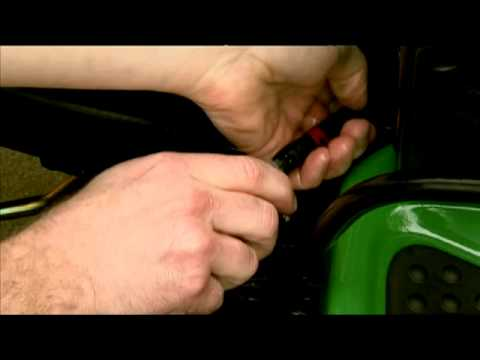 How to Change a Lawn Mower Fuel Filter  -- John Deere