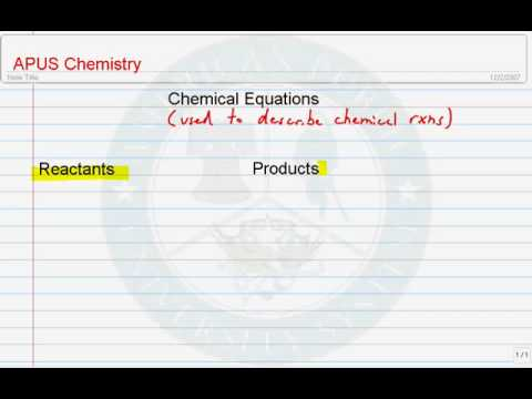 Chemistry Equations