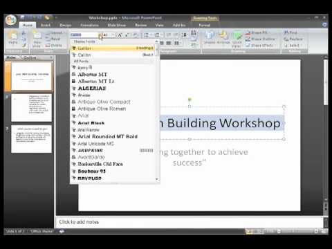 PowerPoint 2007: Text Basics Part 1