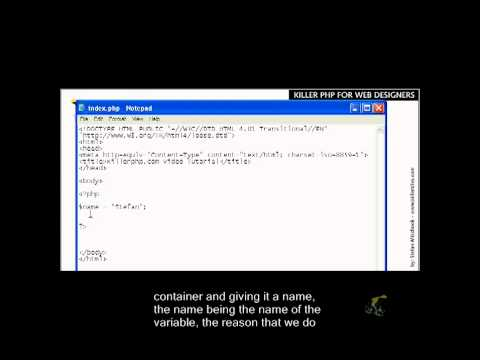 PHP Basics Closed Captioned - Variables Part 1