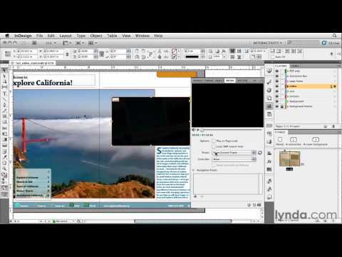 How to add a video URL to an InDesign presentation | lynda.com tutorial