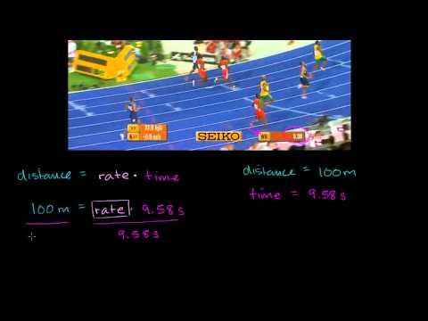 Usain Bolt's Average Speed