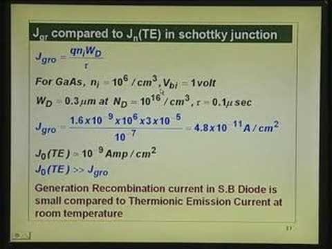 Lecture 18 - Schottky Barrier Diodes