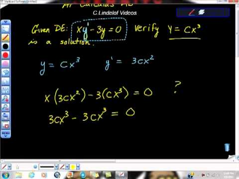 AP Calculus Differential Equations Particular Solutions