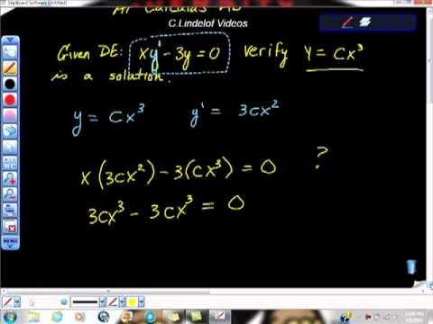 AP Calculus Differential Equations Particular Solutions