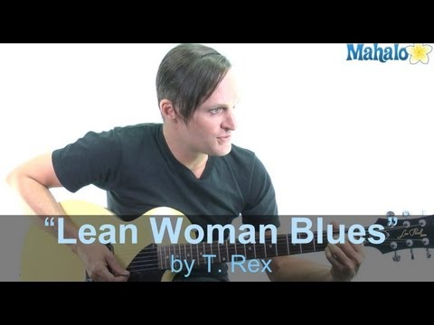 "How to Play ""Lean Woman Blues"" by T. Rex on Guitar (Practice Cover)"