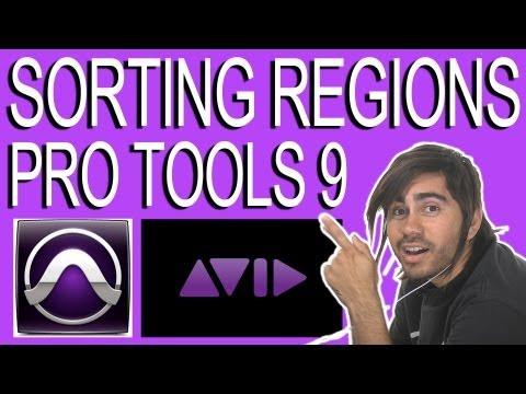 Sorting Regions - Pro Tools 9