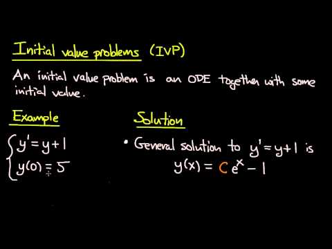 ODE | Initial value problems