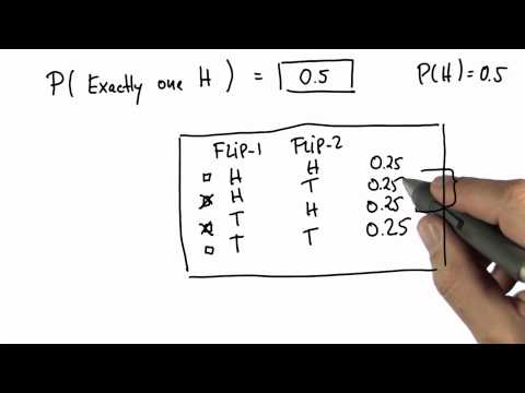 One Head 2 Solution - Intro to Statistics - Probability - Udacity