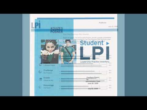 Overview of The Student Leadership Practices Inventory