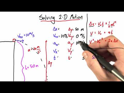 Solving for Time Solution  - Intro to Physics - Motion - Udacity