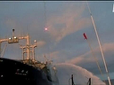 Whale Wars- The Nisshin Barrels Down
