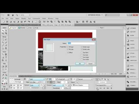 Total Training for Adobe Fireworks CS5 Ch2 L6 Applying Filters & Working with Styles
