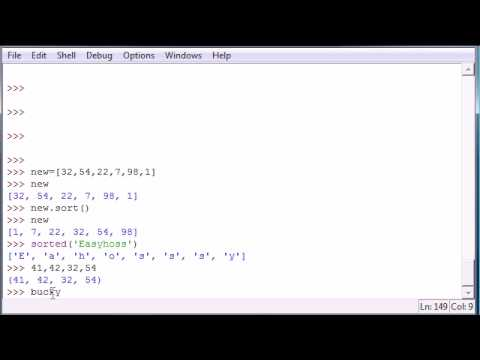 Python Programming Tutorial - 16 - Sort and Tuples