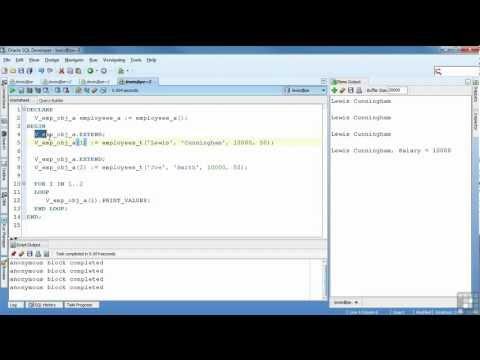 Oracle 11G Tutorial | Object Types | InfiniteSkills Training