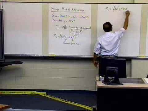 Power Model Regression Curve: Derivation; Part 1 of 2