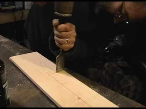 Sash Window Pocket cutting with a chisel