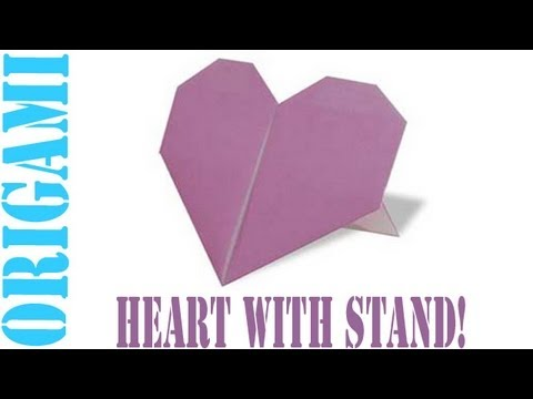 Origami Daily - 161: Heart With A Stand (Valentine's Day) TCGames [HD]