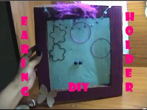 ♥ DIY Earring Holder Tutorial ♥ ( • ◡ • )