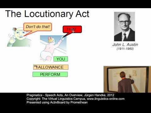 Pragmatics - Speech Acts, An Overview