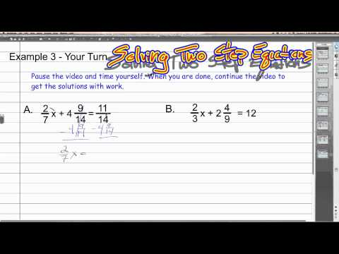 Solving Two Step Equations with Fractions | Algebra 1 How To
