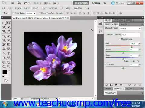 Photoshop CS5 Tutorial Using Channels Adobe Training Lesson 13.2