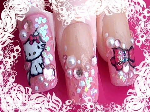 Sanrio #9: *Charmmy Kitty* Nail Art Design Tutorial