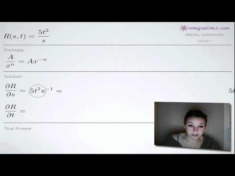 Partial Derivatives Example 4