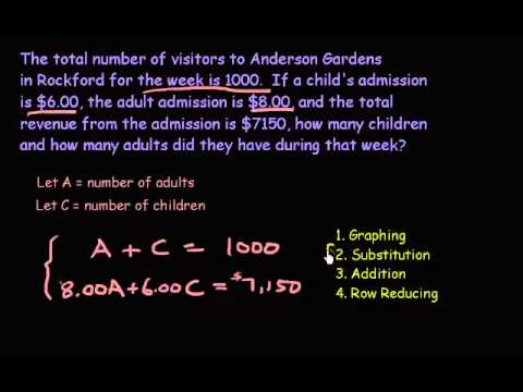 System of Equations - Word Problem #1