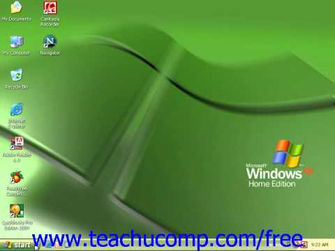 Windows XP Tutorial Opening a Recently Accessed File Microsoft Training Lesson 6.4