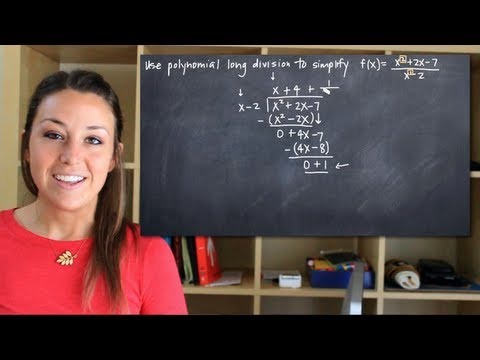 Polynomial long division for rational functions
