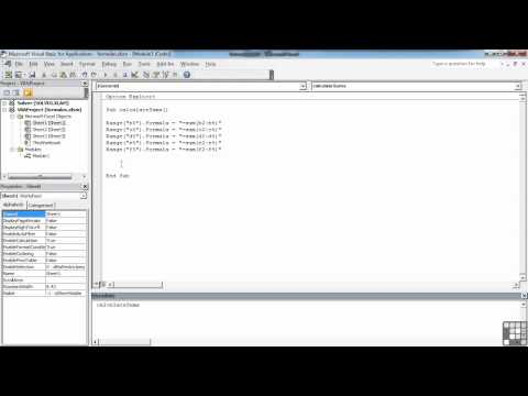 Visual Basic for Excel Tutorial | Add Formulas to Cells | InfiniteSkills