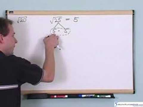 Algebra 2 Tutor - Sample 3 - Simplifying Radical Expressions