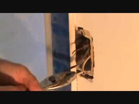 How to demo an electrical outlet