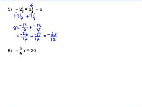 Solving Equations with Fractions Part 3