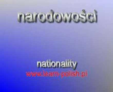 What nationality are you ? Polish lessons online