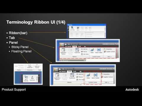 Ribbon UI in Inventor 2010