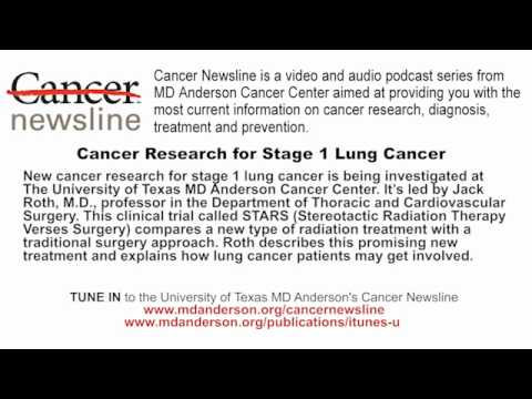 Cancer Research for Stage 1 Lung Cancer