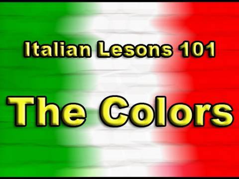 English/Italian Lessons: 15 - The Colors I Colori