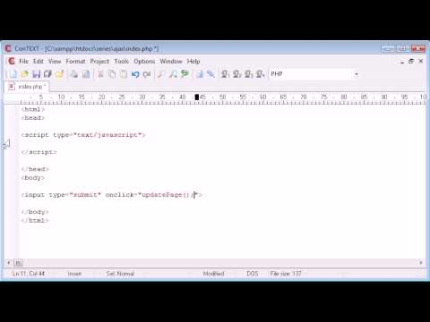 Beginner PHP Tutorial - 171 - Introduction to AJAX