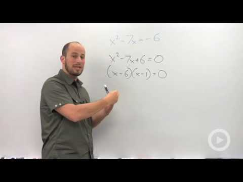 Algebra 2 - Solving by Factoring