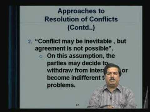 Lecture - 36 Conflict Management - II
