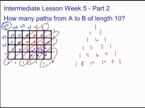 Application of Combinations - How many paths?