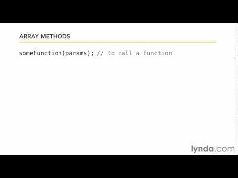 JavaScript tutorial: How to work with arrays | lynda.com