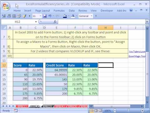 Excel Formula Efficiency 2: Time Your Formulas For Speed