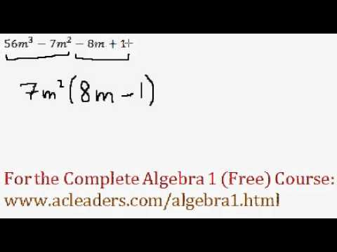 Polynomials - Factoring by Grouping Question #4
