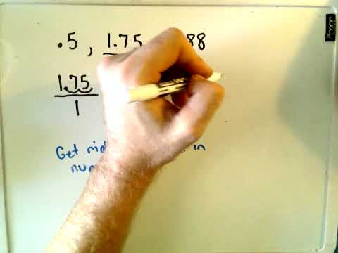 Arithmetic Basics: Converting Decimals into Fractions
