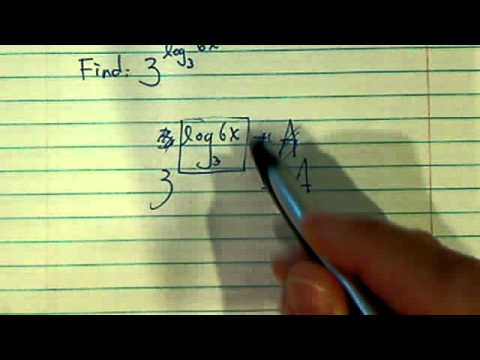 *Property of Logarithm:  3^(log(base3)•6x)